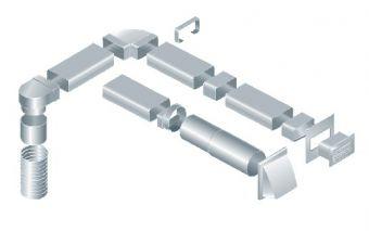 Прямоугольные пластиковые каналы воздуховодов